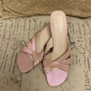 Naturalizer Pearlescent Pink Slide Heels